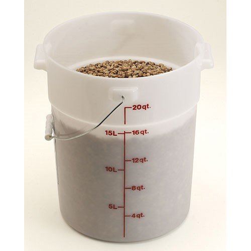Cambro PWB22 Round Storage Container - Pail with Bail 22 Quart by Cambro