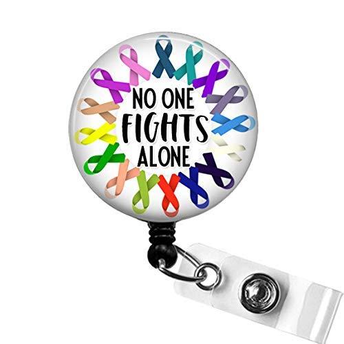 Hope button badge Pink ribbon badge Reel Cancer Awareness Badge Reel HOPE Fabric badge Reel