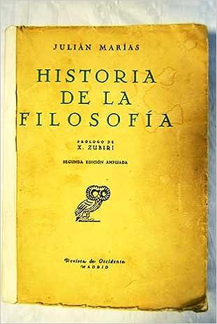 HISTORIA DE LA FILOSOFÍA: Amazon.es: Julián MARÍAS: Libros