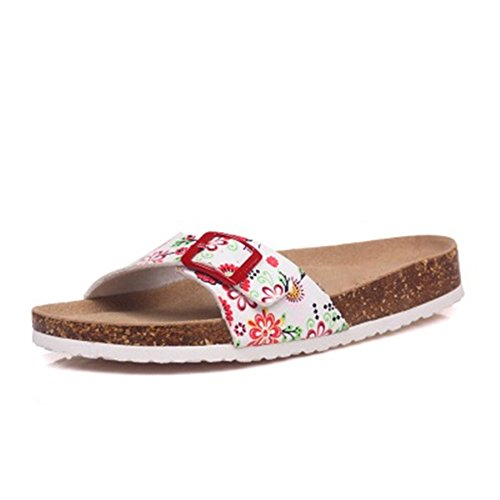 Cork Sandals 10 Casual Flops Color Flip Beach Summer Women ZHOUZJ Mixed Slipper 5BRTHnqq