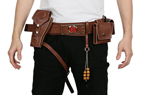 xcoser Hellboy Belt Buckle Holster Costume Accessories for