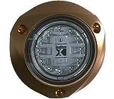 Lumitec SeaBlazeX 101141, LED Underwater Boat Light, Surface Mount, White / Blue Non-Dimming, White Non-Dimming, Blue Non-Dimming, Cross Fade, Strobe