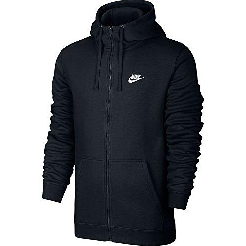Men's Nike Sportswear Hoodie Black/White Size Large