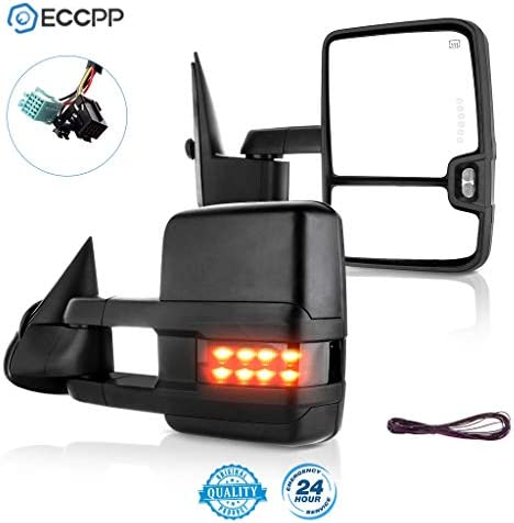 ECCPP Driver Side Mirror Power Heated Memory Signal Textured Left Replacement fit for GM Pickup SUV