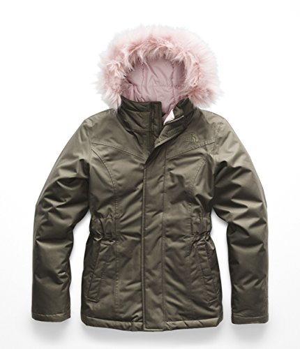 - The North Face Girl's Greenland Down Parka - New Taupe Green - L