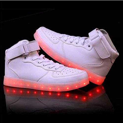 [+Kleines Handtuch]Die neuen LED-Lampe leuchtet Schuhe Schuhe koreanischen Männer und Frauen Schuhe USB-Lade Licht emittierende Leucht sieb c44
