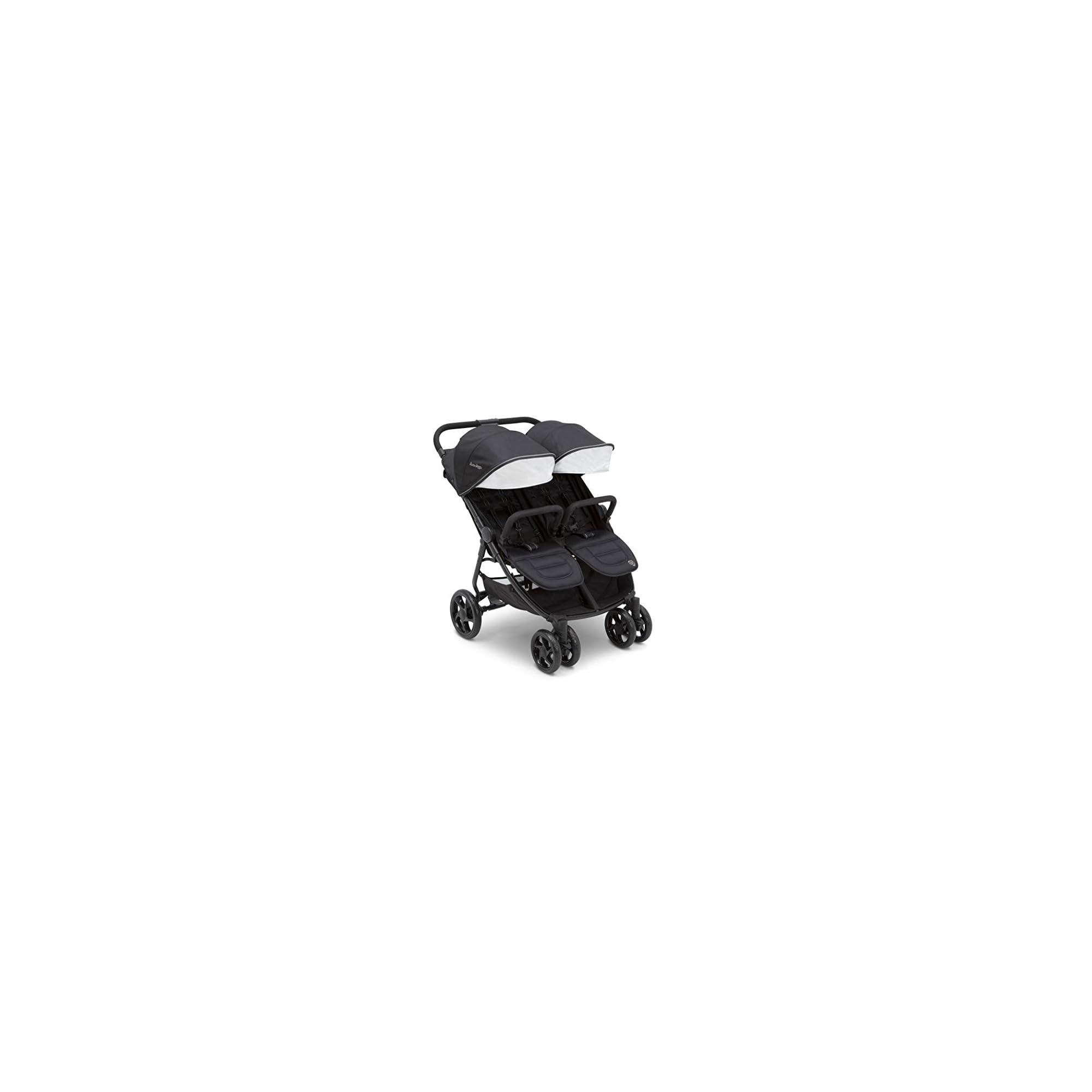 Jeep Destination Ultralight Side x Side Double Stroller, Midnight (Black)
