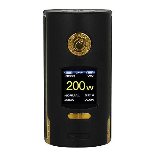 Kriemhild 220W Akkuträger (Mod) – von Vapefly | TFT Farb-Display|VW, TC, Curve, Memory – Farbe: schwarz-gold