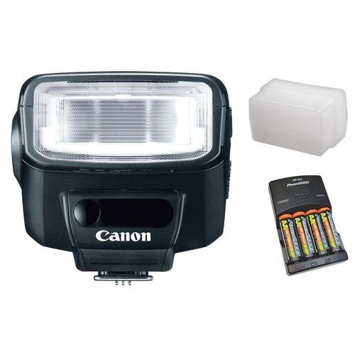 Canon Speedlite 270EXII Flash Basic Outfit, with 4 NiMH Batteries, Charger, Sto-Fen Omni-Bounce
