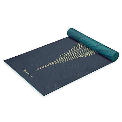 Gaiam Yoga Mat Premium Print Reversible Extra Thick Non