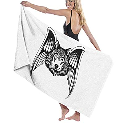 LXXYZ Wolf LYCOS Wings Prints Bath Towel Wrap Womens Spa Shower and Wrap Towels Swimming Bathrobe Cover Up for Ladies