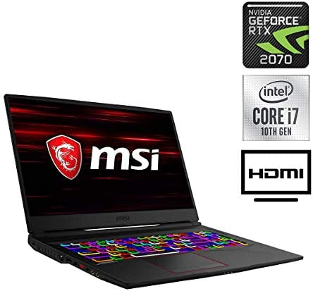 "MSI GE75 Raider Gaming Laptop, 17.3"" FHD 144Hz 3ms Display, Core i7-10750H, WiFi 6, HD Webcam, RGB Backlight Keyboard, USB-C, HDMI, GeForce RTX 2070, Windows 10 Home, 32GB RAM, 1TB PCIe SSD"