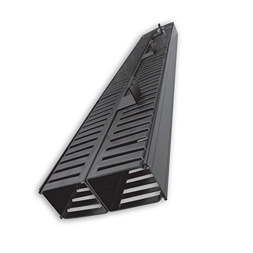Black Vertical Finger Duct (Quest Manufacturing 2-Post Rack Vertical Cable Manager Duct with Cover, 70 Cables per Side, 6', Black (VR-07-140))