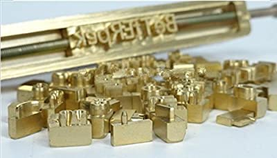 Hot Sell Brass Flexible Letters CNC Engraving Mold for Hot Foil Stamping Machine Number/Alphabet/Symbol Customization Font Character Mold