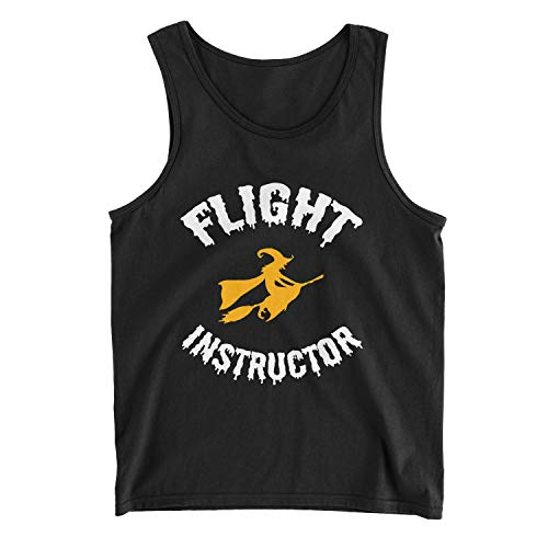 Zinko Men's Flight Instructor Broomstick Witch Halloween Costume Tank Top (2XL, Black)]()