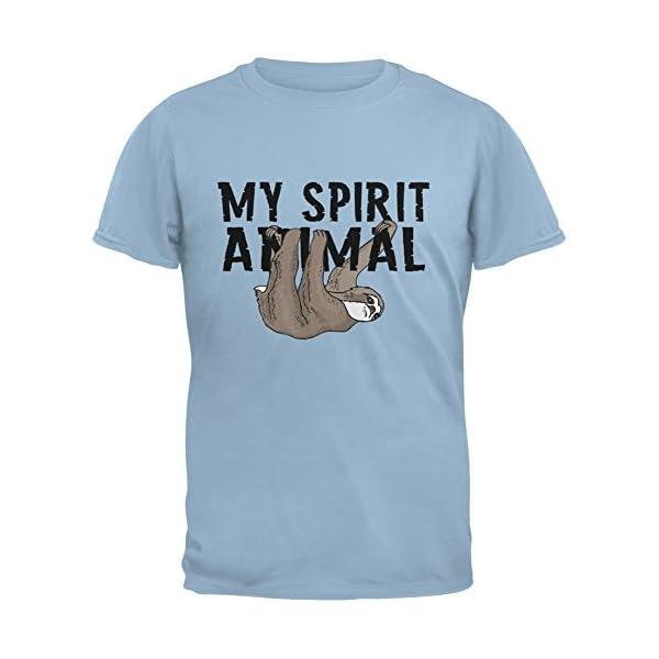 Sloth My Spirit Animal Light Blue Adult T-Shirt -