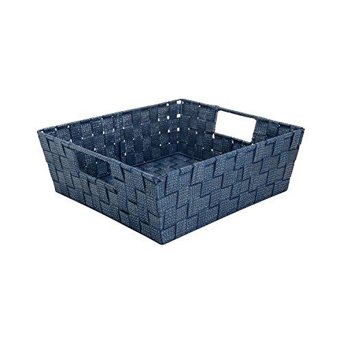 simplify-large-metallic-striped-woven-storage-shelf-bin-in-navy