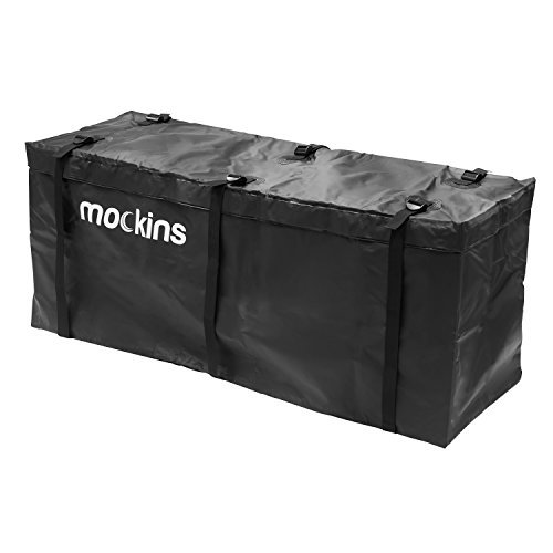 "Mockins Waterproof Cargo Carrier Bag | The Hitch Rack Cargo Bag is Made from Heavy Duty Abrasion Resistant Vinyl with 15.5 Cu.ft.Capacity at 57"" Long X 19"" Wide X 24"" High"
