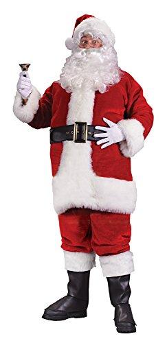 [Fun World Costumes Men's Plus-Size Regency Plush Santa Suit-Red, Red/White, XX-Large] (Xxl Santa Suits For Sale)
