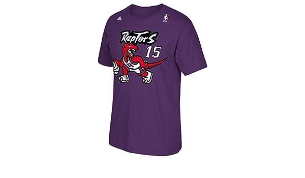 adidas Toronto Raptors Vince Carter Throwback Vintage Camiseta - Rojo -: Amazon.es: Ropa y accesorios