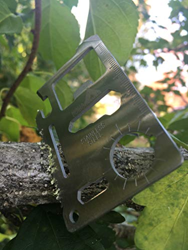 Ninja Outdoorsman 11 in 1 Stainless Steel Credit Card Pocket Sized Survival Multi Functional Tool – Stocking Stuffers…