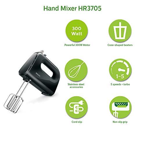 Philips HR3705/10 300-Watt Hand Mixer
