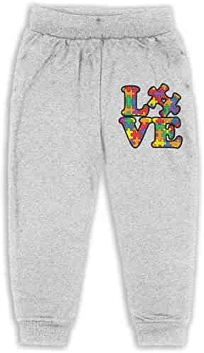 Classic Boys Girls Jersey Pant Love Texas Autism Kids /& Toddler Pants