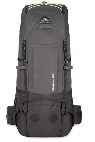High Sierra Tokopah Backpack, Raven/Black/Zest, 55 L