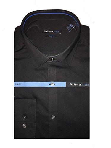 Van Heusen Studio Slim Fit Strech Long Slevee Shirt Black 17/17.5