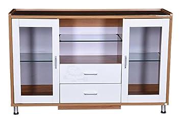 Royaloak Olive Crockery Unit White Amazon In Home Kitchen