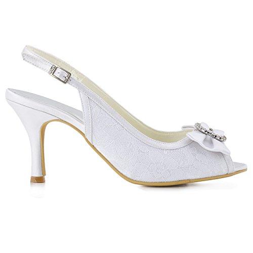 Heel Col White Minitoo 7 Scarpe Donna Tacco 5cm HxB50Oq