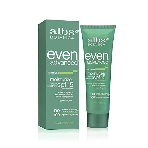 Spf 15 Zinc Moisturizer - Alba BotanicaTM Even Advanced Natural Moisturizer Sea Moss SPF 15 -- 2 fl oz