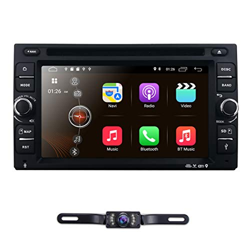 """6.2"""" inch Android 9.0 Double Din in Dash Radio Car Video Receiver DVD Player Bluetooth WiFi 4G GPS Navigation System Rear Camera"""