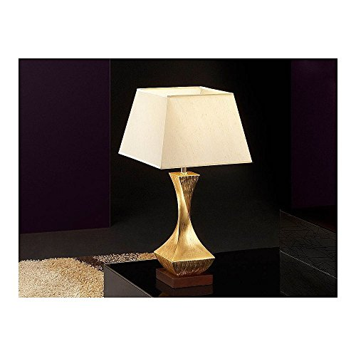 Schuller Spain 662536/7394I4L Modern, Art Deco Gold Twist Table Lamp 1 Light Living Room, bed room, Study, Bedroom LED, Small Gold twist Table Lamp | ideas4lighting by Schuller