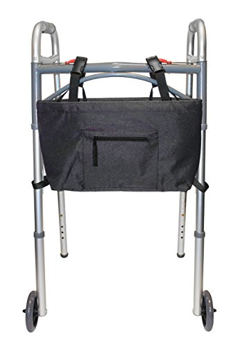 RMS Water Resistant Tote Bag for Walker, Rollator or Scooter (Black) ()