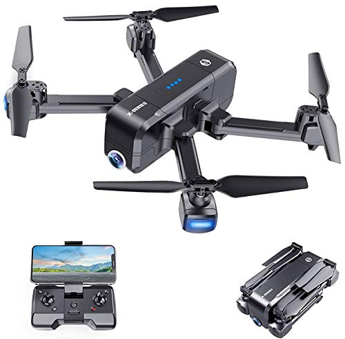 SANROCK X103W Drones with 2.7K UHD FPV Camera for Adults Kids, Live Video with 120° Wide Angle 90° Adjustable RC…