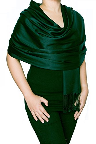 Opulent Luxury Scarf Shawl Wrap Reversible 100% Silk Matte Soft Blue Black 70