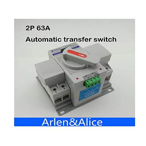 2P 63A 230V Circuit Breaker MCB Type Dual Power Automatic Transfer Change-Over Switch ()