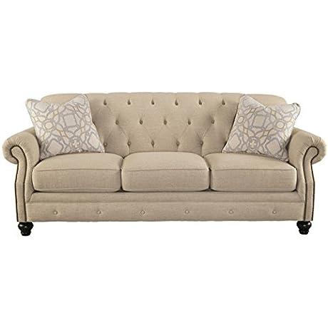 Ashley Furniture Signature Design Kieran Sofa Traditional Style Couch Natural Tan