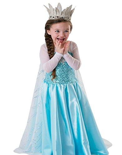 BuyChic Little Girls' Summer Dress-Dress for your Princess,Size 4T,Style 04 (Buy Elsa Frozen Dress)