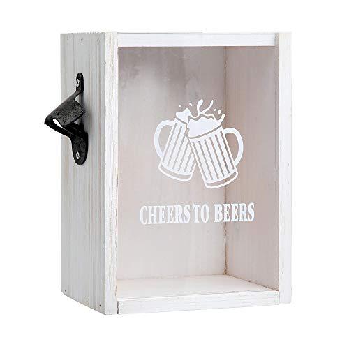 Wemco Bottle Cap Bank Cheers to Beer Barware Set - White