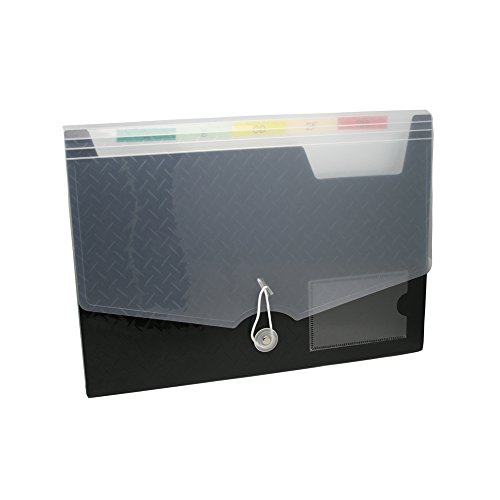 Lightahead LA-7558 Expanding file Folder with 6 pockets Available in Colors Blue, Pink, Green, Black (BLACK) Photo #2