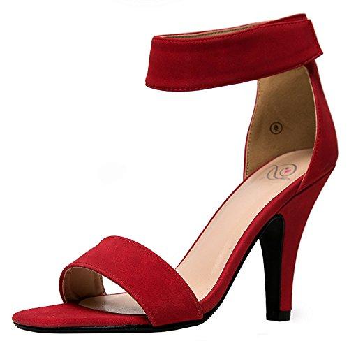 Deilige Brus Kvinners Rosela Formell Kjole Sandal Red Nubuck