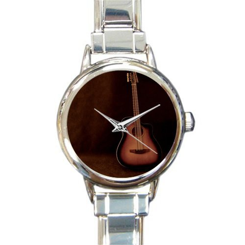 Hot Sale Christmas Day Gift Watch Classic Guitar Round Italian Charm stainless steel Watch