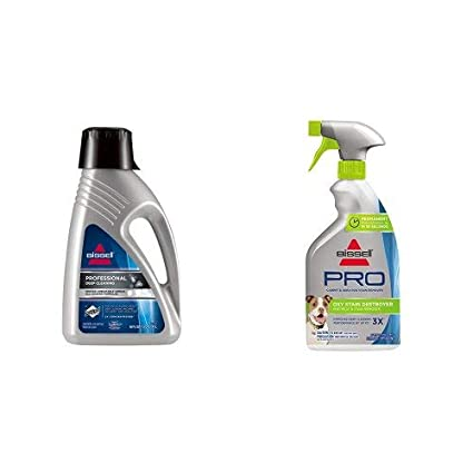 Bissell 78H6B Deep Clean Pro 2X Deep Cleaning Concentrated Carpet Shampoo with Oxy Stain Destroyer Pet Plus Pretreat