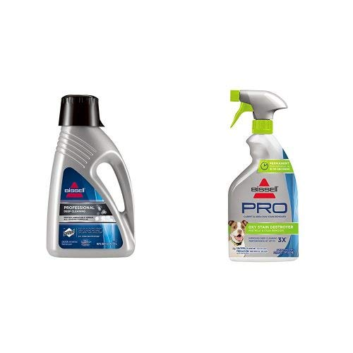Bissell 78H6B Deep Clean Pro 2X Deep Cleaning Concentrated Carpet Shampoo with Oxy Stain Destroyer Pet Plus Pretreat by Bissell