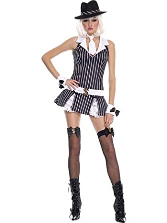 f2c9880e2ee Image Unavailable. Image not available for. Color  Sexy Mafia Girl Fantasy  Costumes - MEDIUM LARGE