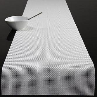 Marvelous Chilewich Basketweave Table Runner White