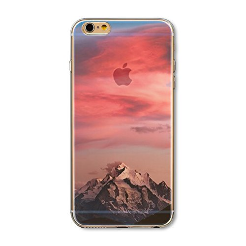 Iphone 6 Plus Case Floral Print Stunning Transparent Clear Slim Tpu Skin Shell Cover For Apple Iphone 6  Beautiful Fashion Scenery Design Cases  Scenery Pattern Iphone 6 Plus 5 5 Inch   Color 4