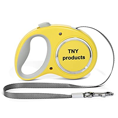 Retractable Dog Leash For Small/Medium Size Breed - 16 Feet Extension Cord, Up To 44lbs - Safe, Compact, Durable & Easily Used - Bag Dispenser Holder + 2 Rolls, A Dog Tag & Extra eBook Attached